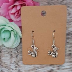 'Animal' Squirrel Necklace   Tibetan Silver Charm Birthday Christmas Mothers Mother's Day Valentine Anniversary Easter Jewellery Squirrels Acorn Gift Ideas   Charming Gifts