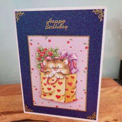 Ladies Decoupage Birthday Card