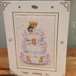 Wedding Day Decoupage Greetings Card