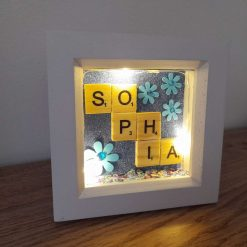 Cute personalised light up frame
