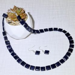 A beautiful blue goldstone necklace and earrings set