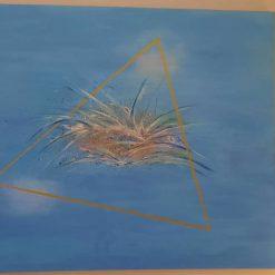 "Original Abstract Acrylic Painting - Abstract Art – ""Bermuda Triangle"""