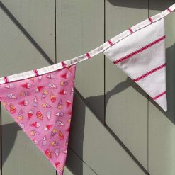Bunting Pink  ice cream and stripes