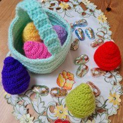 Crochet Easter eggs 🥚 and basket
