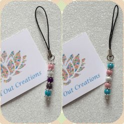 - LGBT inspired - Beaded Phone / Zipper Charm (2 designs available)