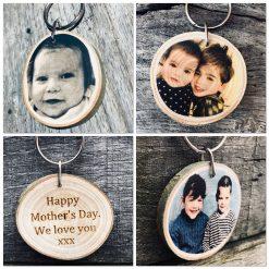 Personalised Wooden Keyring, personalised wooden gift, Personalised photo keyring, wooden engraved keychain, Photo keyring, engraved keychain