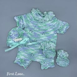 Stunning Hand Knitted Newborn Baby Outfit