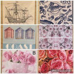 Napkins for Decoupage/Paper Crafts - Coast and Roses