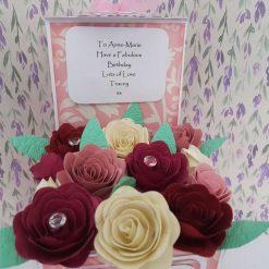 Birthday Rose Box Card