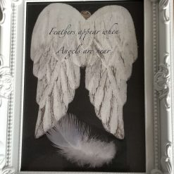 Angel Wings and Feather Framed Photo - Feathers appear when Angels are near