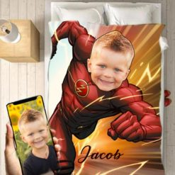 Personalised Flash Blanket Baby Home Decor Kids Nursery Room Decor Baby Gifts