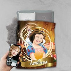 Personalised Snow White Princess Blanket Baby Home Decor Kids Nursery Room Decor Baby Gifts