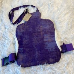 Purple Wearable Quilted Hot Water Bottle Cover (bottle not included)