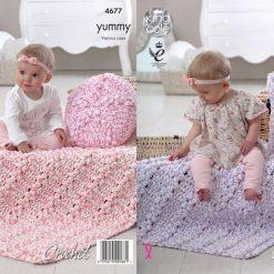 King Cole - Crochet Pattern - Cushions & Blankets