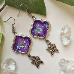 Violet Butterfly Earrings