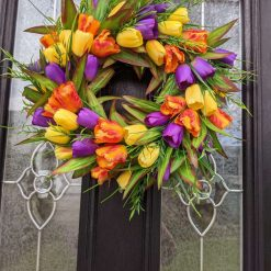 Faux Tulip Spring Wreath