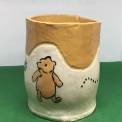 Winnie the Pooh Hand Crafted Ceramic Pen Pot