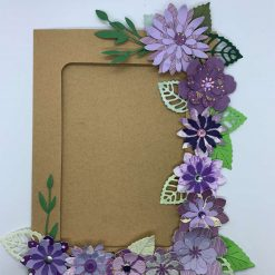 Purple magnetic Kraft card photo frame craft kit