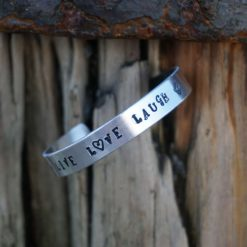 Hand stamped personalised bracelets