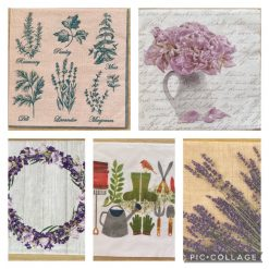 Napkins for Decoupage/Paper Crafts - Gardening