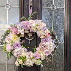 Beautiful Lilac & Cream Artificial Spring Wreath