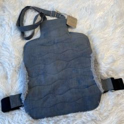 Grey Wearable Quilted Hot Water Bottle Cover (bottle not included)