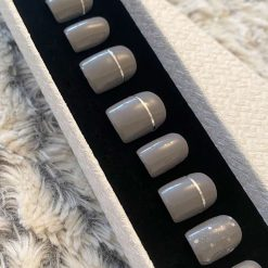 """Grey Slate"" Press on Nails"