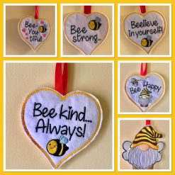 Bee Heart Hangers - various designs