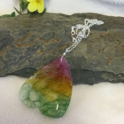 Agate Gemstone Pendant Necklace