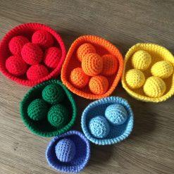 Rainbow Nesting Basket and Ball Set