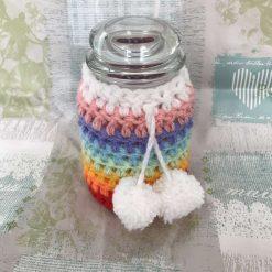Crochet Rainbow Storage Jars