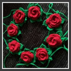 Crochet Rose Bunting