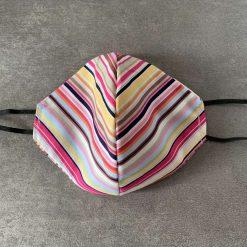 Multicolour stripe Face Cover