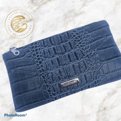 Rudeneja handbag, classic styling with a modern twist. Moc Croc and soft navy faux leather
