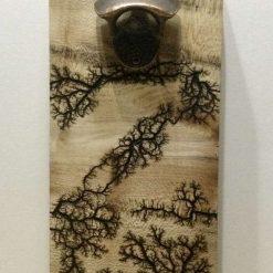Wooden Wall Mounted Bottle Opener 1