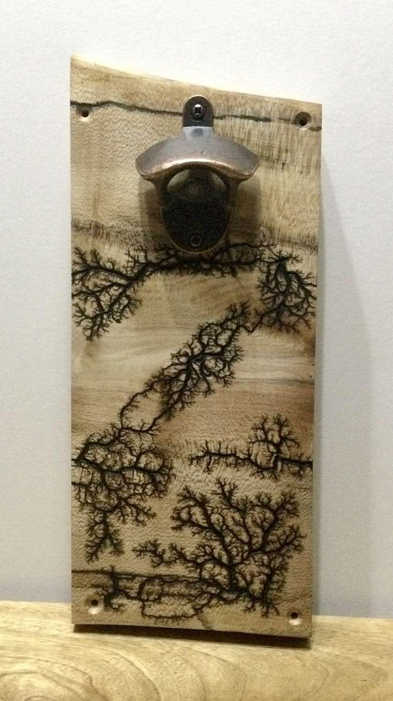 Wooden Wall Mounted Bottle Opener