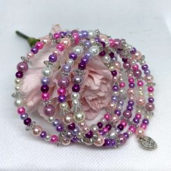 Wrap Around Pink and Lilac Bracelet code 106