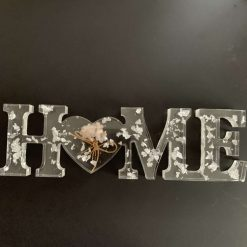 Resin 'Home' sign