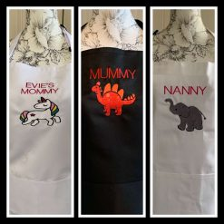 Personalised Embroidered Adult Aprons