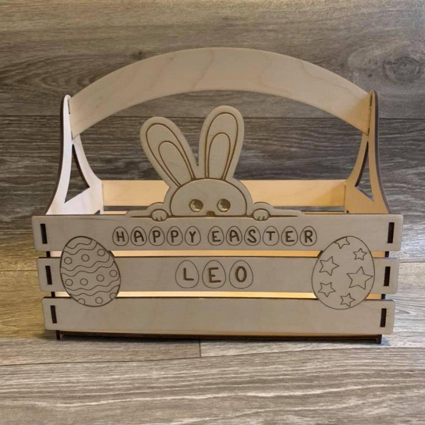 Easter Bunny Personalised Basket