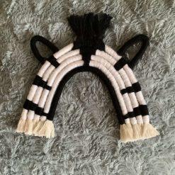 Macrame zebra