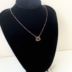 Rose gold filled satellite chain with 3 hearts