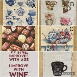 Napkins for Decoupage/Paper Crafts - Food and Drink