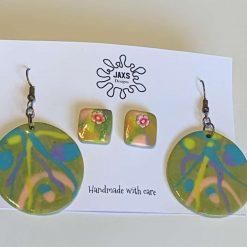 Twin polymer clay earring set