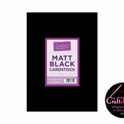 Crafter's Companion - Matt Black Cardstock - A4 - 300gsm - 40 Sheets