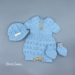 ** SOLD ***.  Stunning Hand Knitted Newborn Baby Outfit