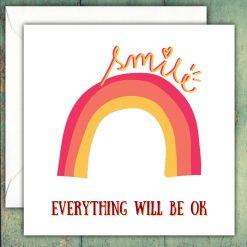 Rainbow Positivity Card Thinking of You Positive Vibes Sending Hugs