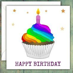Happy Birthday Greeting Card, Rainbow card, Unisex