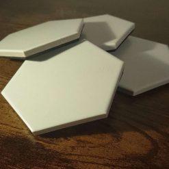 Hex - White Hexagon Coasters - Porcelain