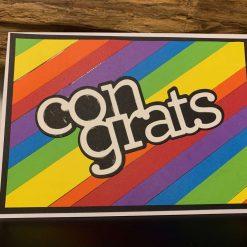 Congrats Bright Rainbow Card